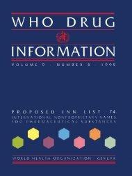 WHO DRUG INFORMATION