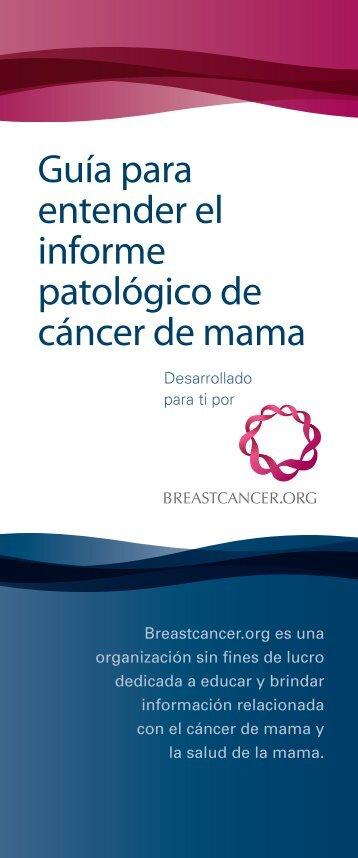 Baje la versión PDF - Breastcancer.org