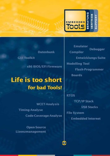 Embedded Tools Linecard Overview - Embedded Tools GmbH