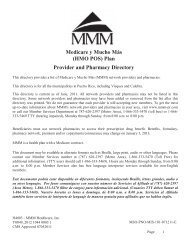 (HMO POS) Plan Provider and Pharmacy Directory - MMM