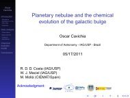 Planetary nebulae and the chemical evolution of the galactic bulge