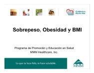Sobrepeso, Obesidad y BMI p , y - MMM