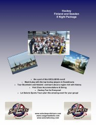 Hockey Finland and Sweden 8 Night Package - Selects Hockey