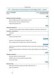 P1 – Informační a komunikační technologie (IKT) – teorie