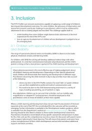 Early Years Foundation Stage Profile Handbook Inclusion ... - NALDIC