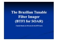 The Brazilian Tunable Filter Imager (BTFI for SOAR) (BTFI for SOAR ...