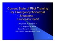Current State of Pilot Training for Emergency/Abnormal ... - NASA