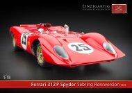 Ferrari 312 P Spyder Sebring Rennversion1969 - CMC