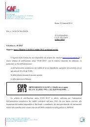 Roma, 22 Gennaio 2013 Prot. n. 54/2013/CDA/SS/GN Ai ... - uil varese