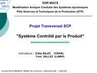 SCP : Système Contrôlé par le Produit - LSIS