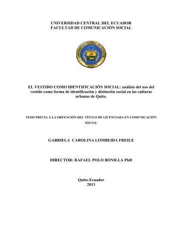 UNIVERSIDAD CENTRAL DEL ECUADOR FACULTAD DE ...