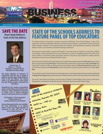 The Business Advocate September 2009 - Tempe Chamber of ...