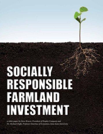 NEW Socially Responsible Farmland Investment (EDJE 2)