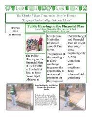 Spring 2013 - Charles Village Community Benefits District