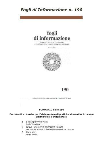 190 - Centro documentazione Pistoia