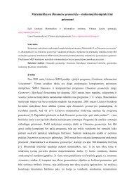 Matematika su Dinamine geometrija - Matematikos ir informatikos ...