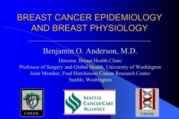 breast cancer epidemiology and breast physiology - Breast Health ...