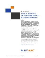 Titan SiliconServer and Alacritech iSCSI Accelerator - ModernTech ...