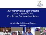 Involucramiento Comunitario para la Gestion de Conflictos ...