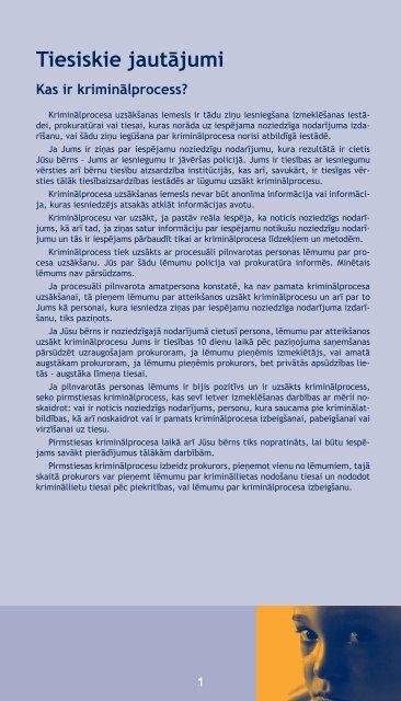 Bērns kā cietušais vai liecinieks Krimināl- procesā