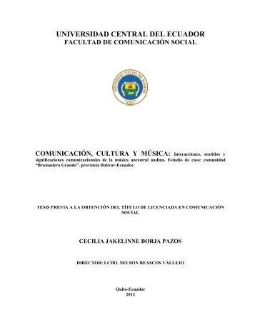 Interacciones, sentidos y - Universidad Central del Ecuador