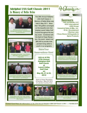 Adelphoi USA Golf Classic 2011 In Memory of Nellie Briles