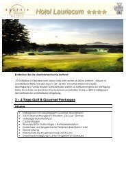 2 – 4 Tage Golf & Gourmet Packages - Hotel Lauriacum