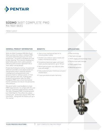 365it Complete PMO Mix Proof Valve - Südmo
