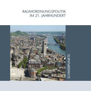 raumordnungspolitik im 21. jahrhundert - Ateliers du territoire