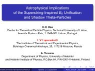 Astrophysical Implications of the Superstring ... - Univers Invisible