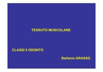 TESSUTO MUSCOLARE CLASSI II ODONTO Stefania GRASSO