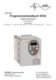 Benutzerhandbuch Stand Aug.08 (PDF 1,16 MB) - Blemo