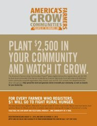America's Farmers Grow Communities Project Details