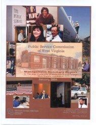 WV Public Service Commission 2004 Summary Report - Huntington ...