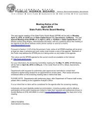 April 12, 2010 10-Day Notice - State Public Works Board