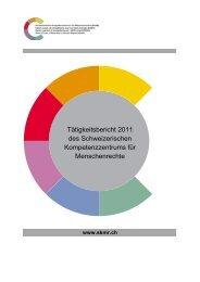 pdf, 20 S. - Centre suisse de compétence pour les droits humains ...
