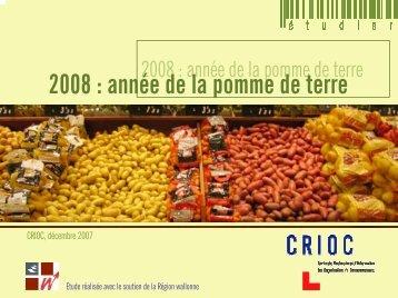 2008 : année de la pomme de terre - Portail de l'Agriculture wallonne