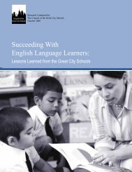 Succeeding With English Language Learners: - Council of the Great ...