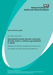 Generalised anxiety disorder and panic disorder - National Institute ...