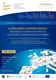 Le règLement européen 650/2012 : - CNUE