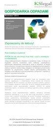 GOSPODARKA ODPADAMI - Polska Izba Gospodarki Odpadami