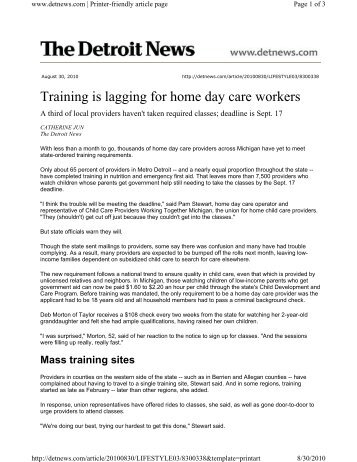 training needs of day care workers In-service training for child care centers have a special training day planned need help motivating staff in-service training may be the answer for you and your.