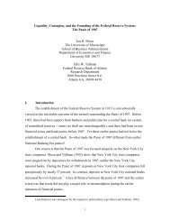 Liquidity, Contagion, and the Founding of the Federal Reserve System
