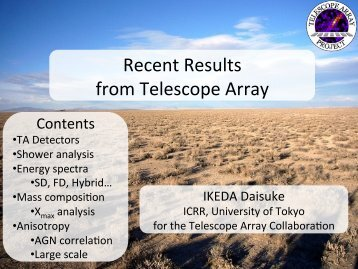 Recent Results from Telescope Array