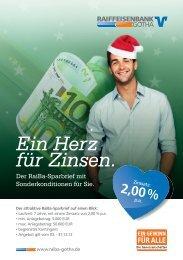 Ein Herz für Zinsen. - Raiffeisenbank Gotha