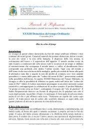 XXXIII Domenica del tempo Ordinario - ARCIDIOCESI ...