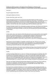 Einführende Stellungnahme zu dem Entwurf eines Gesetzes zur ...