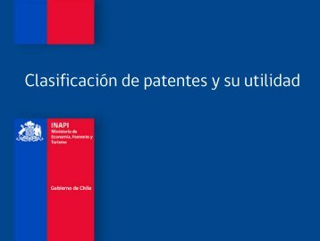 Clasificación de patentes - Inapi Proyecta