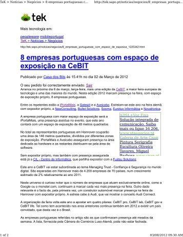 8 empresas portuguesas com espaço de exposição na CeBIT - IPBrick