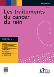 Les traitements du cancer du rein - Institut National Du Cancer
